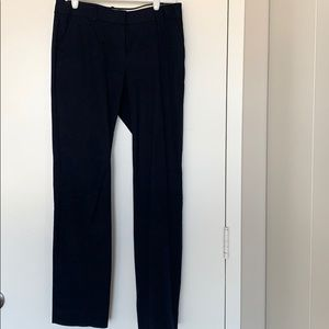 Worn jcrew favorite fit navy straight leg pant